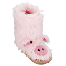 Buy Hatley Pig Slippers, Pink Online at johnlewis.com