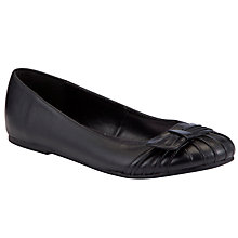 Buy John Lewis Girl Knot Ballet Pump School Shoes, Black Online at johnlewis.com