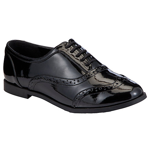 Buy John Lewis Georgie Brogues, Black Patent Online at johnlewis.com