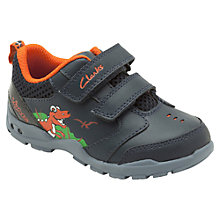 Buy Clarks Brite Dino Shoes, Blue Online at johnlewis.com