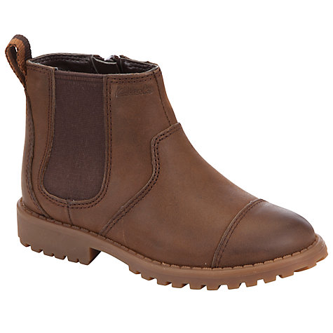 Buy Clarks Diggy Dan Boots, Tan Online at johnlewis.com