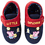Buy George Pig Little Explorer Slippers, Navy/Red Online at johnlewis.com