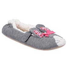Buy John Lewis Girl Jersey Bunny Slippers, Grey Online at johnlewis.com