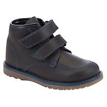 Buy John Lewis Boy David Double Strap Boots, Navy Online at johnlewis.com