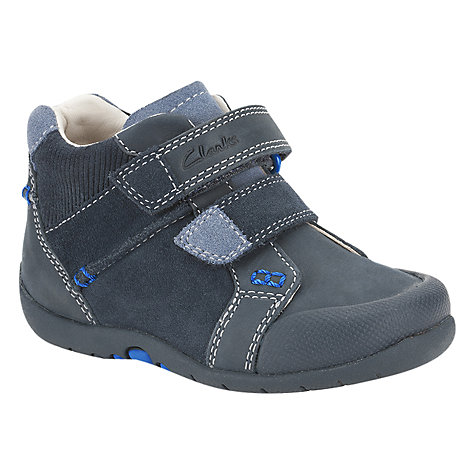 Buy Clarks Softly Top Shoes, Navy Online at johnlewis.com