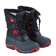 Buy John Lewis Childrens' Hiker Snow Boots, Navy Online at johnlewis.com