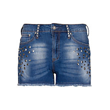 Buy Mango Embellished Denim Shorts Online at johnlewis.com