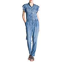 Buy Mango Denim Jumpsuit, Blue Online at johnlewis.com