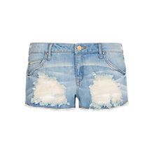 Buy Mango Denim Distressed Shorts Online at johnlewis.com