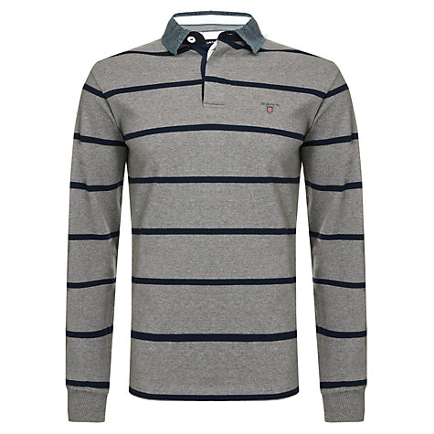 Buy Gant Breton Stripe Heavy Rugby Shirt Online at johnlewis.com