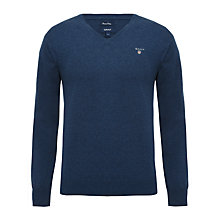 Buy Gant V-Neck Elbow Patch Jumper Online at johnlewis.com