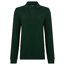 Buy Gant Boys' Basic Pique Long Sleeved Polo Shirt Online at johnlewis.com