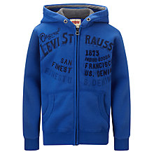 Buy Levi's Boys' Ludo Hoodie, Blue Online at johnlewis.com