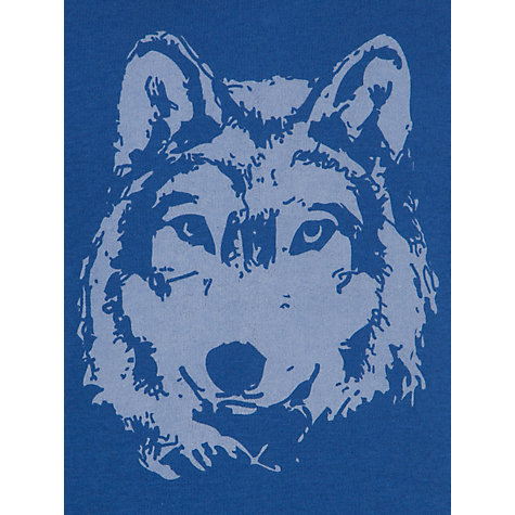 Buy John Lewis Boy Wolf Print and Check Pyjamas, Blues Online at johnlewis.com
