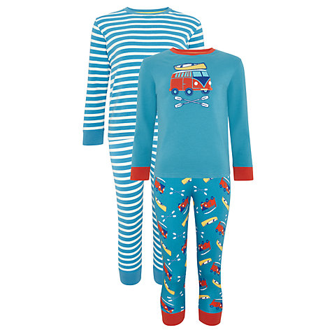 Buy John Lewis Boy Camper Van Print Pyjamas, Pack of 2, Blue/Red Online at johnlewis.com