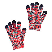 Buy John Lewis Boy Space iPhone Gloves, Red/Blue Online at johnlewis.com