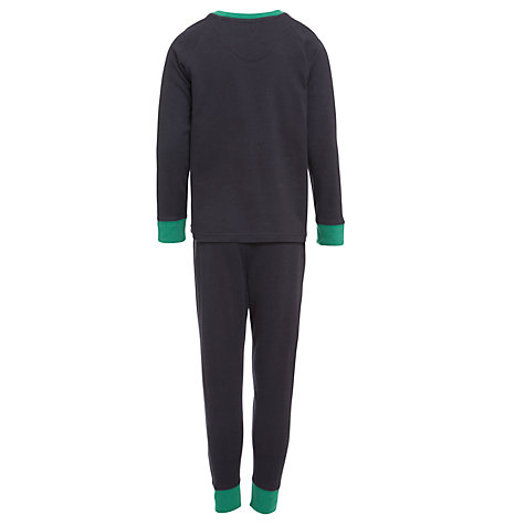 Buy John Lewis Boy Skeleton Glow In The Dark Pyjamas, Black Online at johnlewis.com