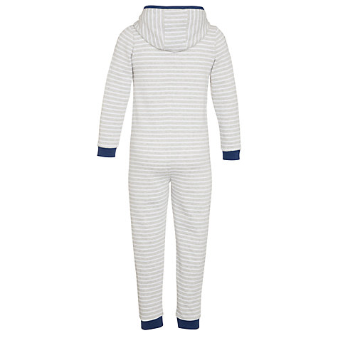 Buy John Lewis Boy Striped Onesie, Grey Online at johnlewis.com