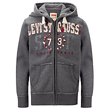 Buy Levi's Boys' Ludwig Hoodie, Grey Online at johnlewis.com