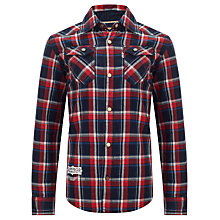 Buy Levi's Boys' Paolo Checked Shirt, Red/Blue Online at johnlewis.com
