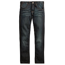Buy Levi's 508 Boys' Regular Fit Denim Jeans, Dark Blue Online at johnlewis.com