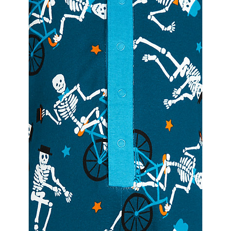 Buy John Lewis Boy Skeleton Jersey Onesie, Teal Online at johnlewis.com