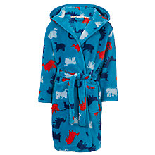 Buy John Lewis Boy Dino Robe, Blue Online at johnlewis.com