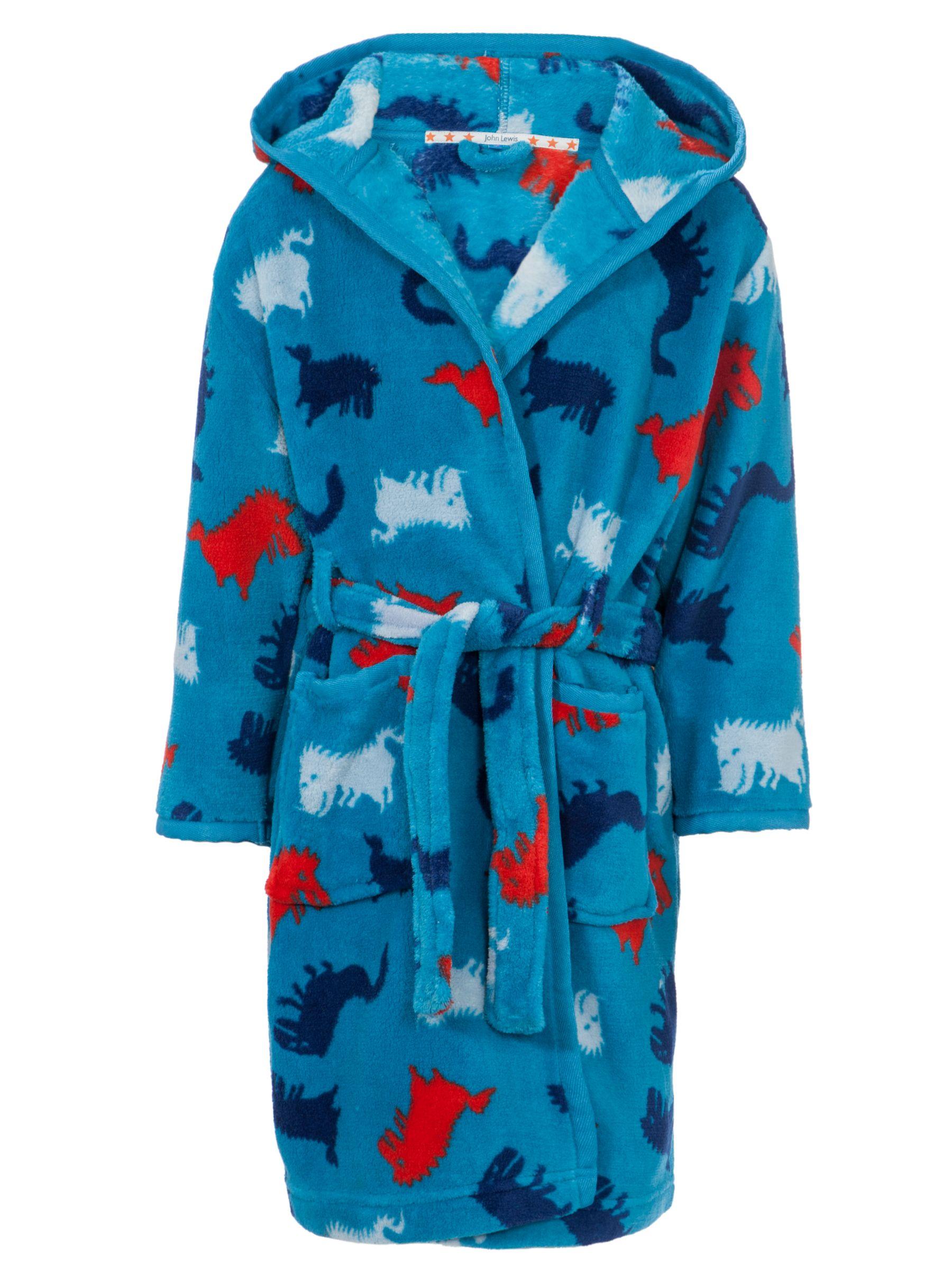 John Lewis Boy Dino Robe, Blue