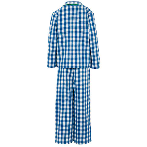 Buy John Lewis Boy Gingham Pyjamas, Blue/Multi Online at johnlewis.com