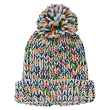 Buy John Lewis Boy Space Dye Beanie Hat, Grey/Multi Online at johnlewis.com