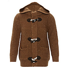 Buy John Lewis Boy Duffle Cardigan, Brown Online at johnlewis.com