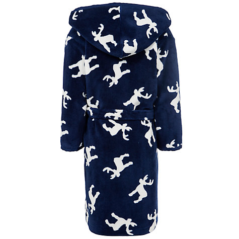 Buy John Lewis Boy Reindeer Robe, Navy/Cream Online at johnlewis.com