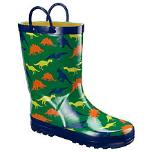 Buy John Lewis Boy Dinosaur Wellington Boots, Green Online at johnlewis.com