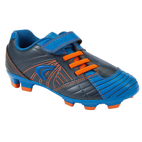 Buy Clarks Strike Time Football Boots, Blue/Orange Online at johnlewis.com