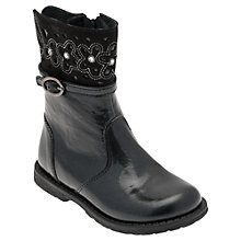 Buy Start-rite Glossy Boots, Black Patent Online at johnlewis.com