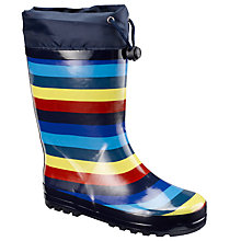 Buy John Lewis Striped Wellington Boots, Blue/Multi Online at johnlewis.com