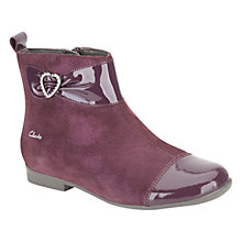 Buy Clarks Dolly Dora Boots, Wine Online at johnlewis.com