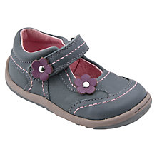 Buy Start-rite Petals Leather Shoes, Grey Online at johnlewis.com