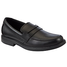Buy Clarks Zayne Loafer Shoes, Black Online at johnlewis.com