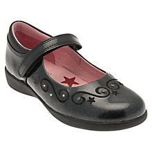 Buy Start-rite Twinkle Stars Shoes, Black Patent Online at johnlewis.com