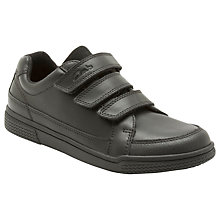 Buy Clarks Deccan Boy Shoes, Black Online at johnlewis.com