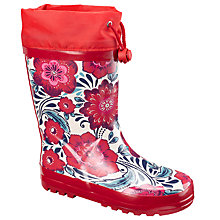 Buy John Lewis Girl Floral Wellington Boots, Multi Online at johnlewis.com