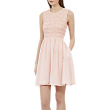 Buy Reiss Smocking Detail Fit and Flare Dress Online at johnlewis.com