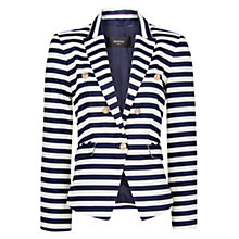Buy Mango Navy Blazer, Navy/White Online at johnlewis.com