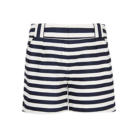 Buy Mango Striped Shorts, Navy/White Online at johnlewis.com