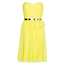 Buy Mango Pleated Sheer Dress Online at johnlewis.com
