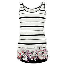 Buy Oasis Floral Satin Vest, Multi Online at johnlewis.com