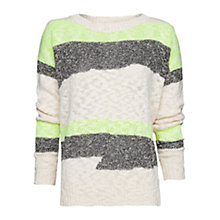 Buy Mango Knitted Mix Jumper Online at johnlewis.com