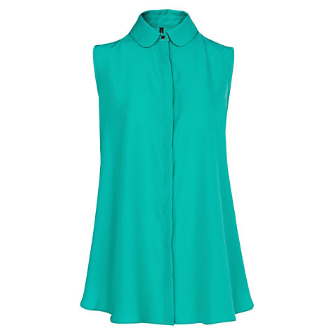 Buy Mango Loose Fit Sleeveless Blouse Online at johnlewis.com