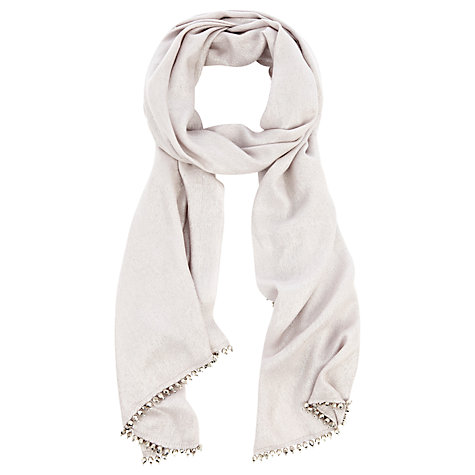 Buy Coast Milly Metallic Wrap Scarf, Oyster Online at johnlewis.com